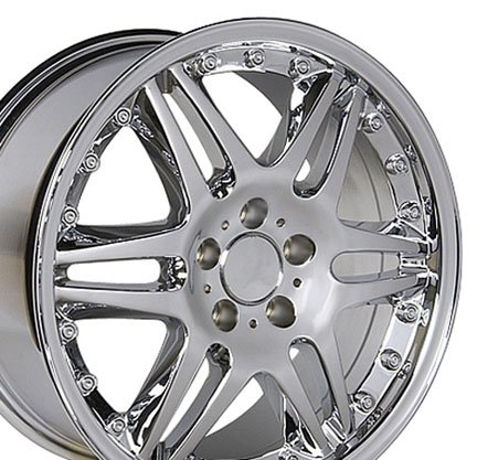 Wheel1x - Brabus Style Replica Wheel Fits Mercedes Benz - Chrome 18x9.5