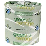 "Green Heritage 276 2-Ply Bathroom Tissue, 4.1"" Length x 3.1"" Width, (Case of 96 Rolls, 500 per Roll)"