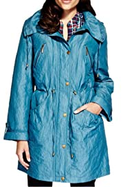 Detachable Hood Padded Mac with Stormwear� [T62-3717J-S]