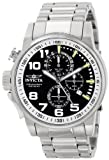 Invicta 14955 Men's I Force Black Dial Stainless Steel Bracelet Chronograph Lefty Watch