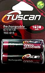 Tuscan AA 1600 mAh Rechargeable Battery