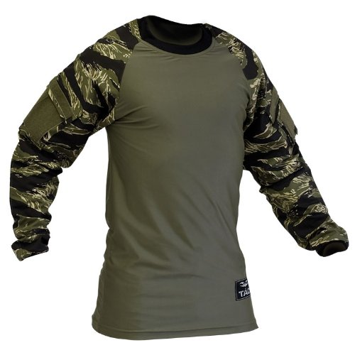 Shirt- V-TAC ZULU Combat Shirt-TIGER STRIPE-3XL