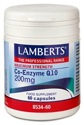 Lamberts Co-Enzyme Q10 200mg QTY 60 Capsules