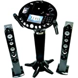 "THE SINGING MACHINE iSM-1028 Pedestal CD+G Karaoke System with 7"" Monitor, Video"