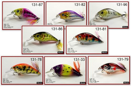 Best Akuna New Shallow Diving Tackle Crankbait for Classic Mix Bass and Trout (Pack of 8), 2.9-Inch  Review