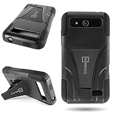 ZTE Speed Case with Kickstand CoverON® Tough Protective Hybrid Phone Cover for ZTE Speed N9130 - Dual Layer Protection; Hard Plastic Outer Shell + Soft Silicone Inner Skin from CoverON