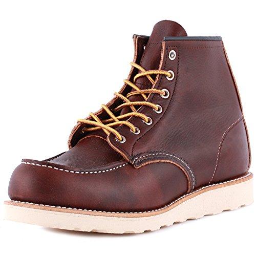 Rosso Wing Moc Toe 08138-1 Uomo Scarpe Stringate in Pelle Boots Marrone - 9
