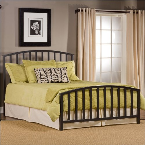 Hillsdale Apollo Charcoal Black Slatted King Bed front-144732
