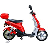 Puma Cycles Fox 700w Electric Motor Scooter- Red- 48v 20Ah Battery, 15+MPH