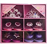 Glam Girl Shoes & Tiara Set 4 Pairs of Shoes & 2 Tiaras With Storage Case