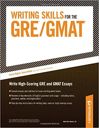 Writing Skills for the GRE/GMAT written by Mark A. Stewart