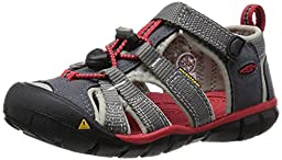 KEEN Seacamp II CNX Sandal (Toddler), Magnet/Racing Red, 5 M US Toddler