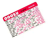 OOOZU Spanish Language Card - phrasebook alternative Keep the essential words in your wallet, purse or pocket Light to carry, quick to use, made from biodegradable plastic Easy alternative to a Spanish phrase book, Spanish dictionary, mobile phone