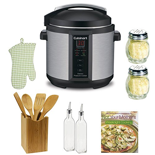 Cuisinart CPC-600 1000W 6qt. Pressure Cooker Refurbished + The Pressure Cooker Gourmet + Accessory Kit (Instant Pot Lux60 compare prices)