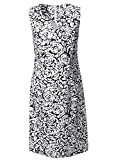 Versandhausware Women's Pencil Floral sleeveless Dress Multicoloured Weiß, Schwarz