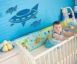 Vinyl Wall Decal Sticker Alien Space Ships #OS_AA172