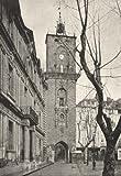 FRANCE: A Hotel de Ville Beffroi; antique print 1895
