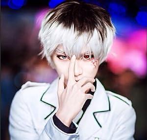 Anime Tokyo Ghoul Season 2 Kaneki Ken Sasaki Wig Japanese New Prop Wig