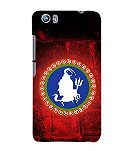 Lord Shiva logo 3D Hard Polycarbonate Designer Back Case Cover for Micromax Canvas Fire 4 A107