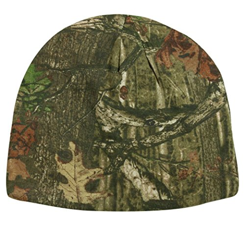 Mossy Oak Reversible Blaze Safety Orange / Camo Hunting Knit Beanie
