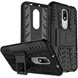 Yes2Good Hybrid Military Grade Armor Kick Stand Back Cover Case For Motorola Moto M (Black)