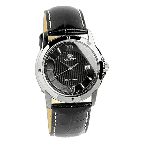 [オリエント]ORIENT 腕時計 ウォッチ ブラック レザーベルト 5気圧防水 日本製ムーブメント カーブガラス ビジネス フォーマル メンズ