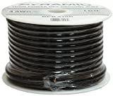 Pyramid RPB10100 10 Gauge Black Ground Wire 100 Feet OFC