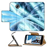 Luxlady Premium Motorola Google Nexus 6 Flip Pu Leather Wallet Case Digital abstract shapes glowing in blue tones IMAGE 19863052