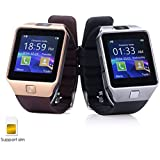 Micromax X281 Compatible and Certified Smart Watch with SIM, 16GB memory card support for Android or use as Mobile with Wireless Bluetooth Connectivity ( Get Mobile Charging Cable worth Rs 239 FREE & 180 days Replacement Warranty )