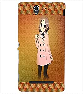 PrintDhaba Studious Girl D-4585 Back Case Cover for SONY XPERIA C3 (Multi-Coloured)