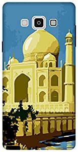 The Racoon Grip printed designer hard back mobile phone case cover for Samsung Galaxy A7. (the taj)