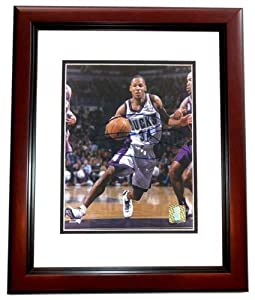 Ray Allen Autographed Hand Signed Milwaukee Bucks 8x10 Photo MAHOGANY CUSTOM FRAME by Real Deal Memorabilia