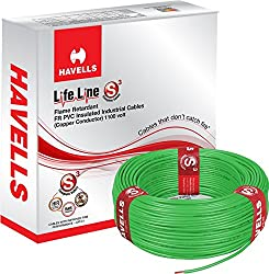Havells Lifeline Cable 0.75 sq mm wire (Green)