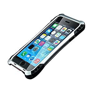 Bpowe Iphone 5s Case Aluminum Metal Shockproof Dust/dirt-proof Case Gorilla Glass+silicon Rubber+metal Frame Bumper Military Heavy Duty Premium Protection Armor Case for Iphone 5 5s (SILVER+BLACK)