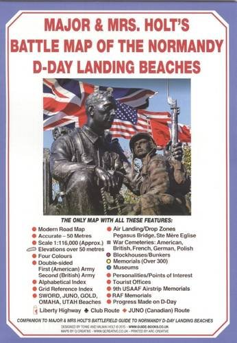 Holts' Battle Map of Normandy D-Day Landing Beaches: D-day Landing Beaches Battle for Normandy