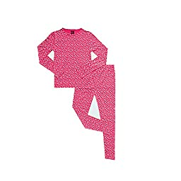 32 Degrees Weatherproof Big Girls Base Layer Thermal Set, XL, Starry Pink