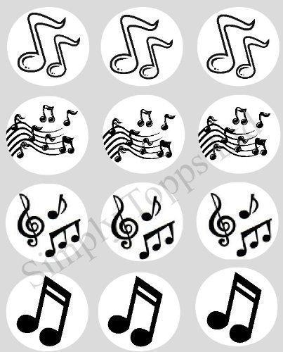 12-Musik-Notizen-reispapier-fee-becher-kuchen-40mm-cake-topper-vorschnitt-deko-Hergestellt-Aus-Simply-Topps-Ltd-Passend-Cupcake-Hllen-In-My-Shop