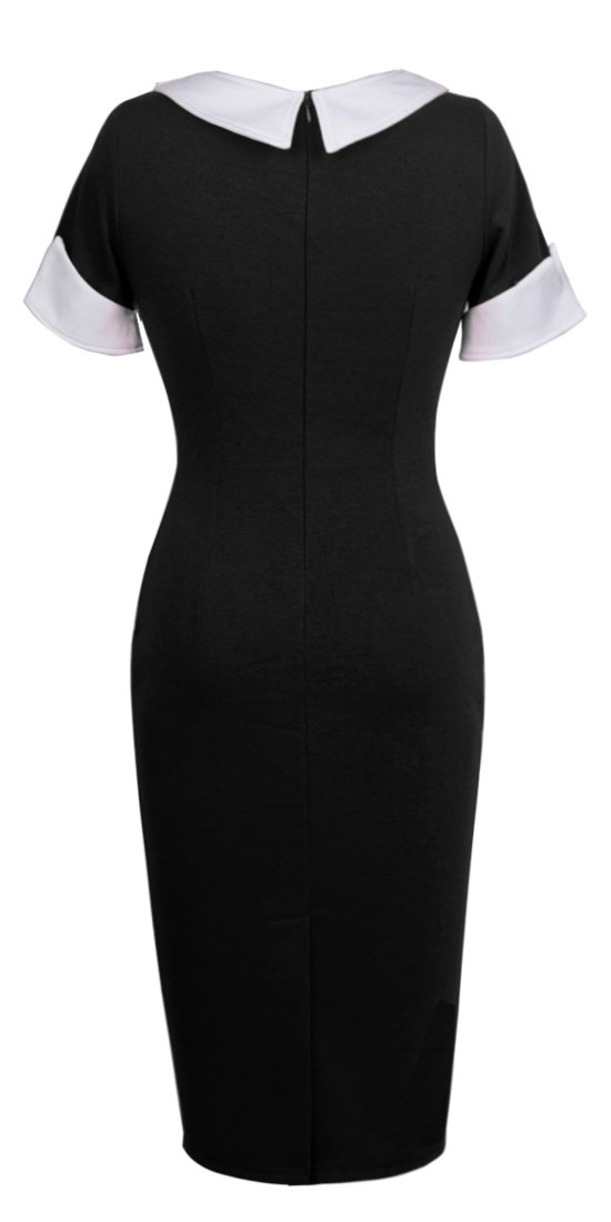 HOMEYEE Women's Vintage Cotton Bodycon Pencil Dress U832 1