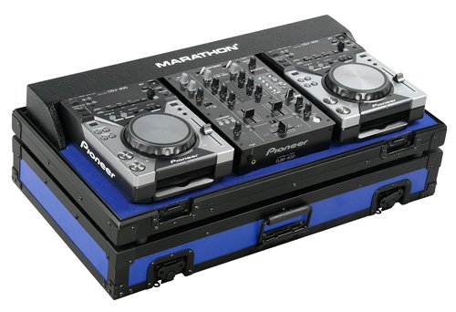Marathon Flight Road Ma-Cdj10V2Blkblue Blue - Black Series - Coffin Holds 2X Small Format Cd Players: Pioneer Cdj-400 + 10-Inch Mixer: Pioneer Djm400