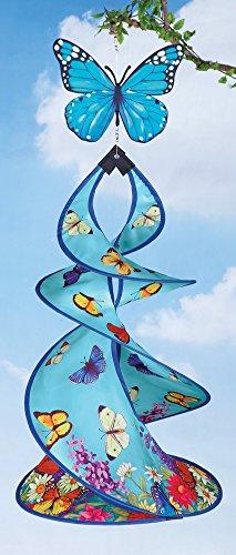 Spiral Spring Butterfly Wind Spinner