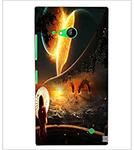 PrintDhaba Abstract Image D-4343 Back Case Cover for NOKIA LUMIA 730 (Multi-Coloured)