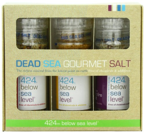 Salt 424 Three Grinder Pack 100% Organic Salts,