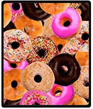 Yummy Colorful Donut Cake Art Pattern Food Printed Blanket Sumptuously Plush Lap Warmer Winter Blank