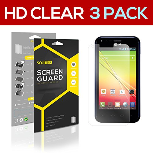 Sojitek Lg Optimus F3Q Lg D520 Premium Ultra Crystal High Definition (Hd) Clear Screen Protector [3-Pack] - Lifetime Replacements Warranty + Retail Packaging
