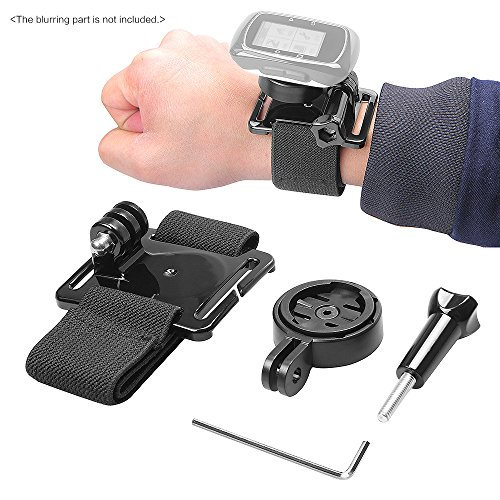 Wrist Hand Strap Band Belt Armband with Holder Adapter for Garmin GPS Edge Cycle 25 200 500 510 520 800 810 for Gopro (Garmin Edge 800 Cycling Gps compare prices)