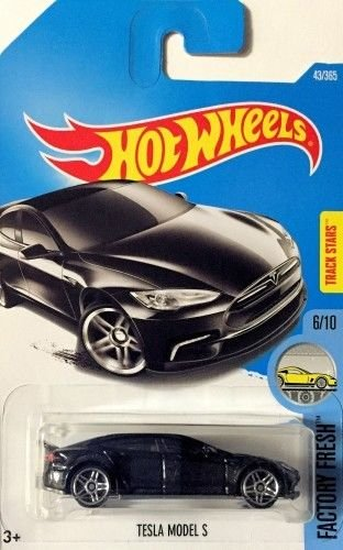 2017 Hot Wheels Factory Fresh 6/10 - Tesla Model S (Metallic Black) (Tesla Model S Hot Wheels compare prices)