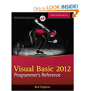 Visual Basic 2012 Programmer&#39;s Reference