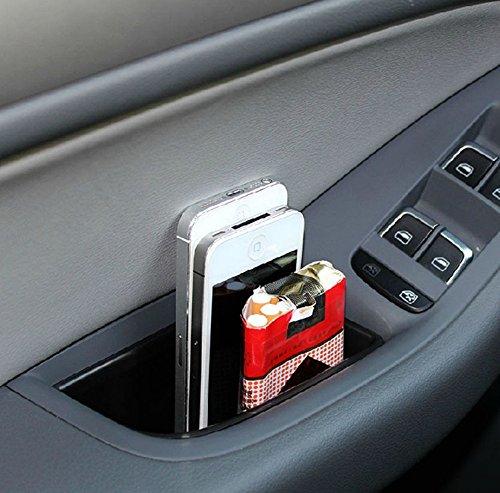 Amooca Black Car Front Door Handle Glove Box Insert
