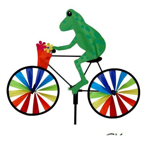 20 in bike spinner tree frog home garden decor wind for Wind garden by premier designs