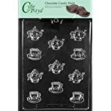 Cybrtrayd D100 Bite Size Tea Pots And Bite Size Demi Tasse Cup Chocolate Candy Mold With Exclusive Cybrtrayd Copyrighted...